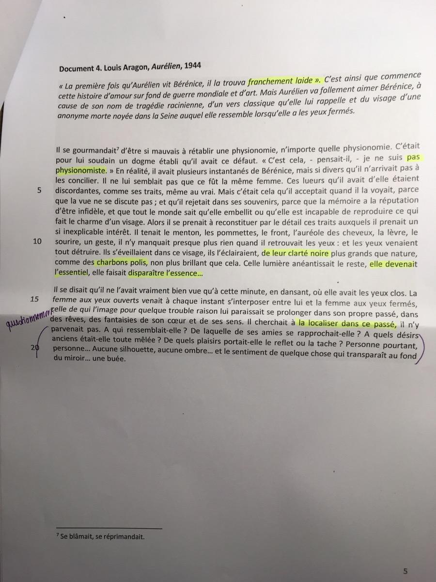 Dissertation roman sujet