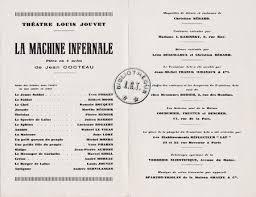 Cocteau, la Machine infernale