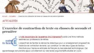 Contraction de texte